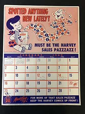 Calendar 1969.Amazon Com Little Dot Harvey Comics Promo Sales Calendar Poster