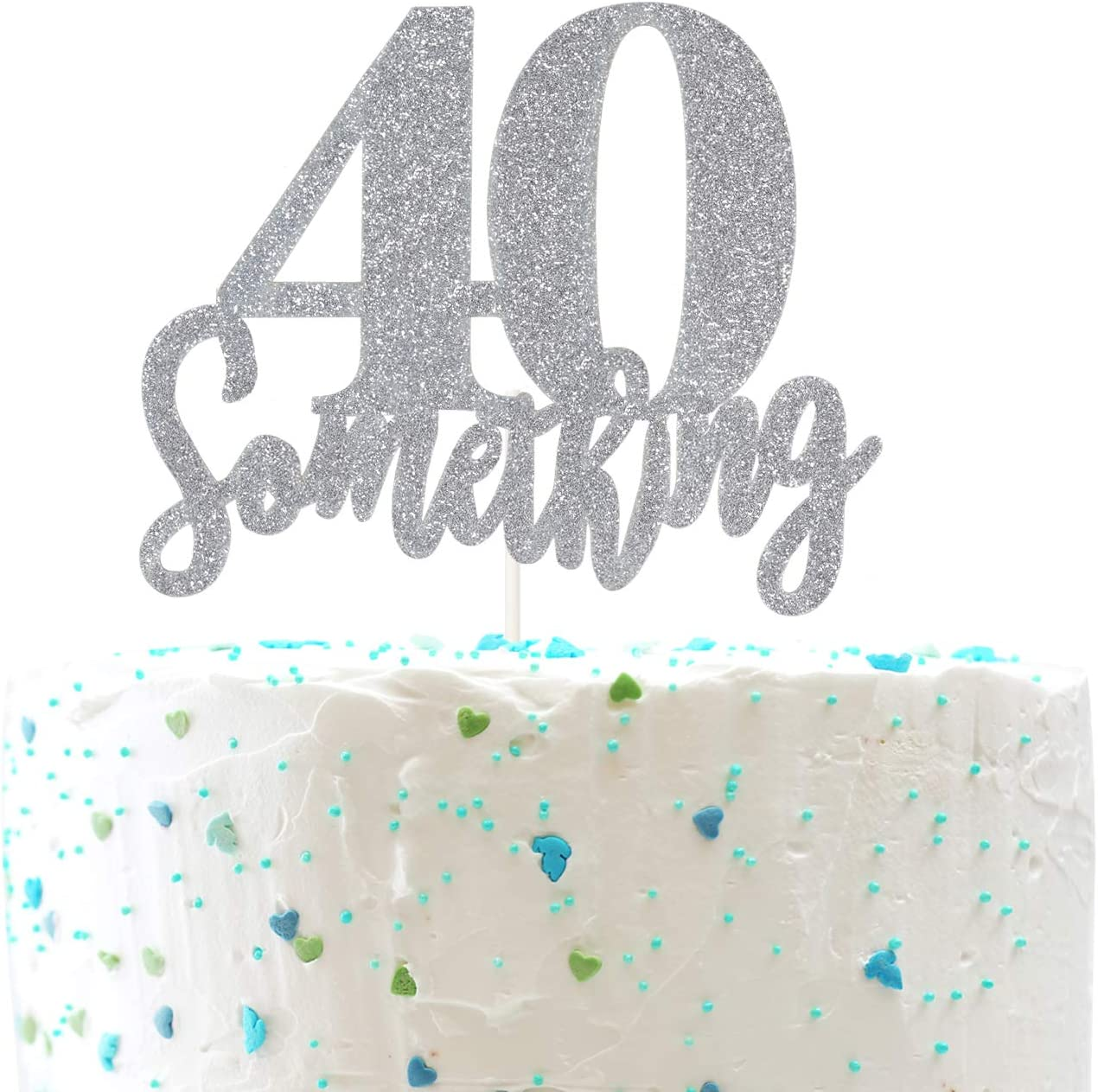 Tremendous Amazon Com 40 Something Cake Topper Funny 40Th Birthday Cheers Personalised Birthday Cards Cominlily Jamesorg