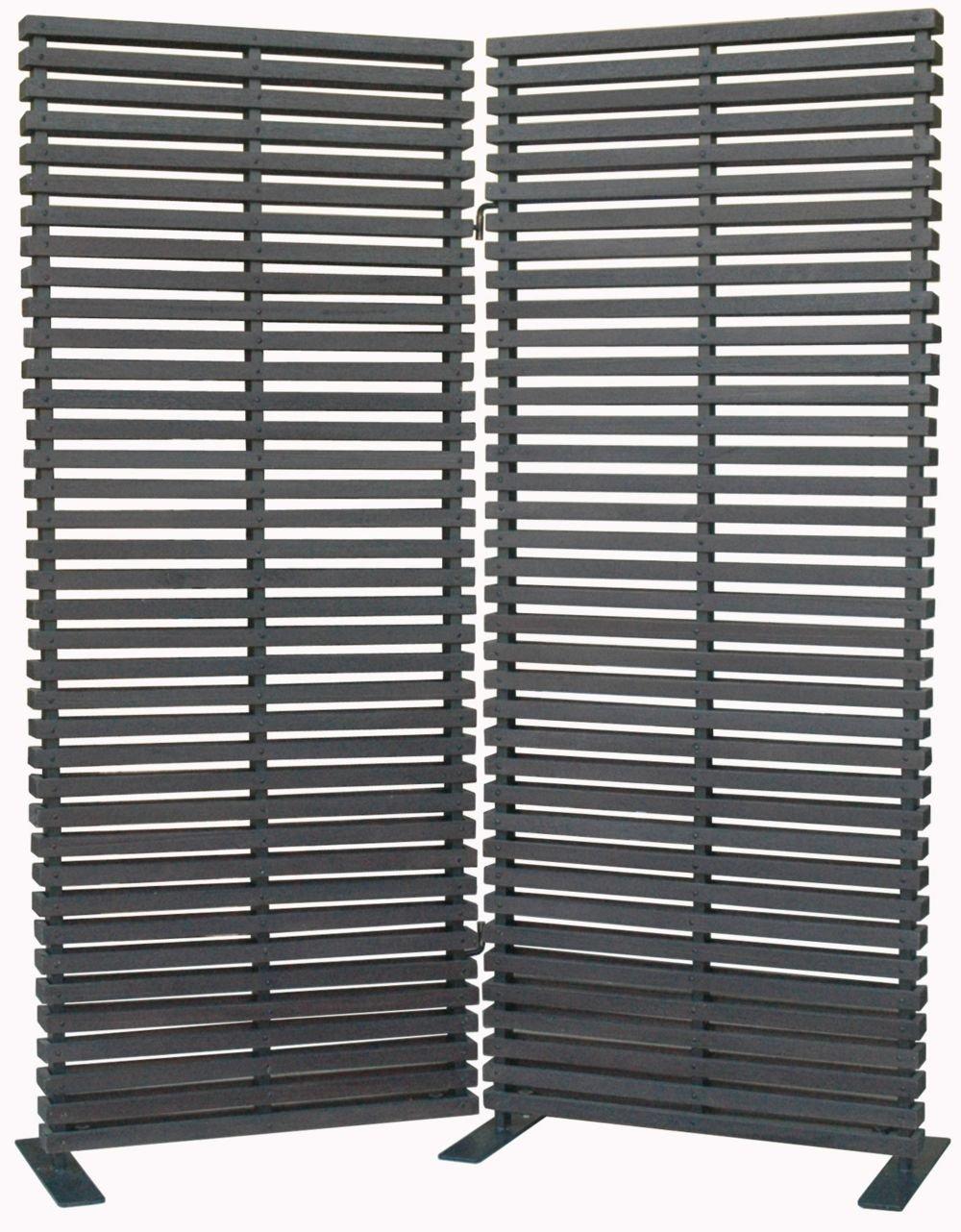 Dasha Room Divider Black Dimensions: 60''W x 3''D x 72''H Weight: 105 lbs