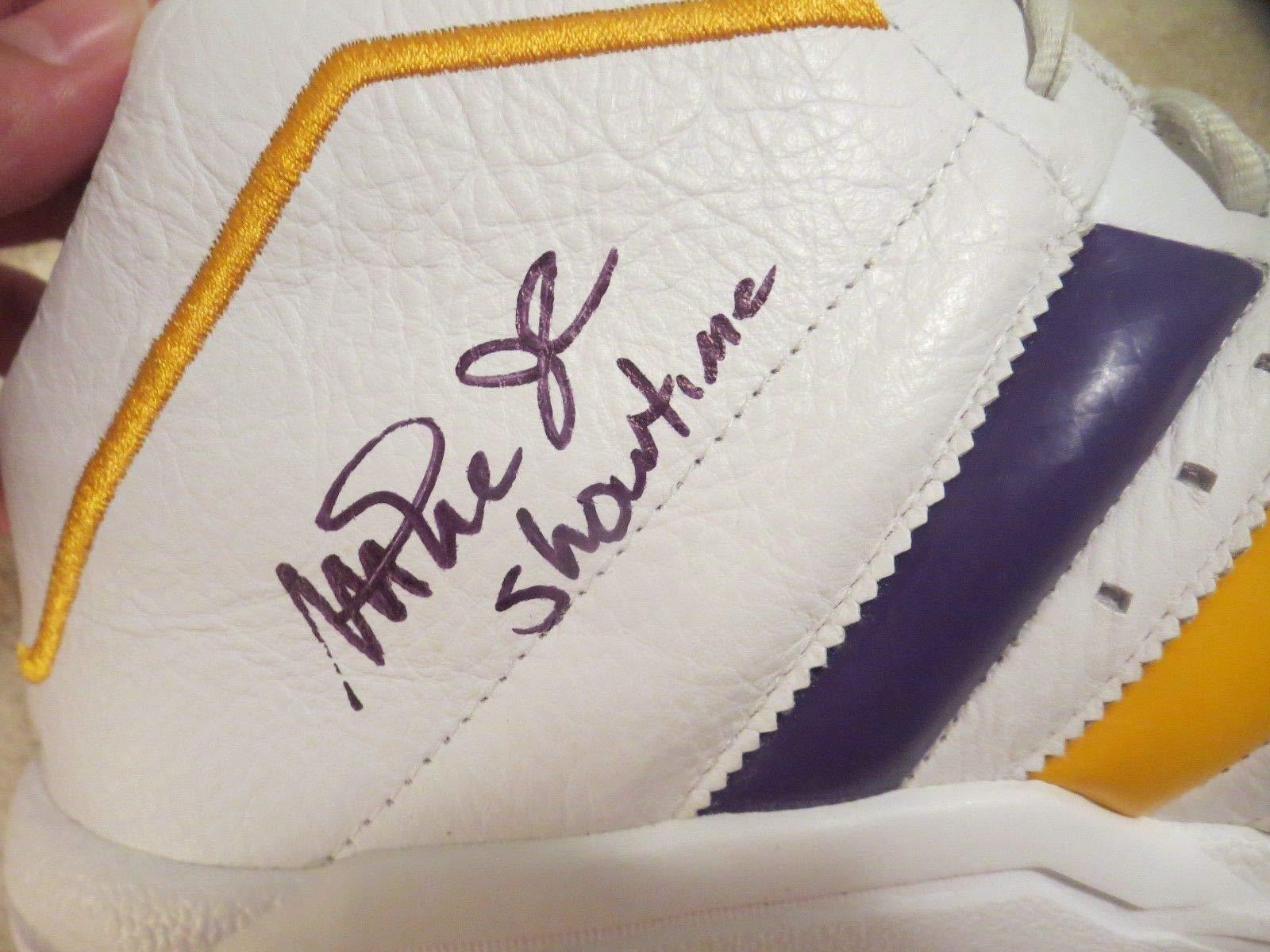 Kareem Abdul Jabbar & Magic Johnson Autographed Signed Memorabilia Shoe Beckett Witness Only 2 On Ebay