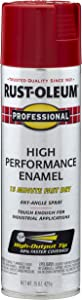 Rust-Oleum, Safety Red 7564838 Professional High Performance Enamel Spray Paint, 15 oz, 15 Fl Oz