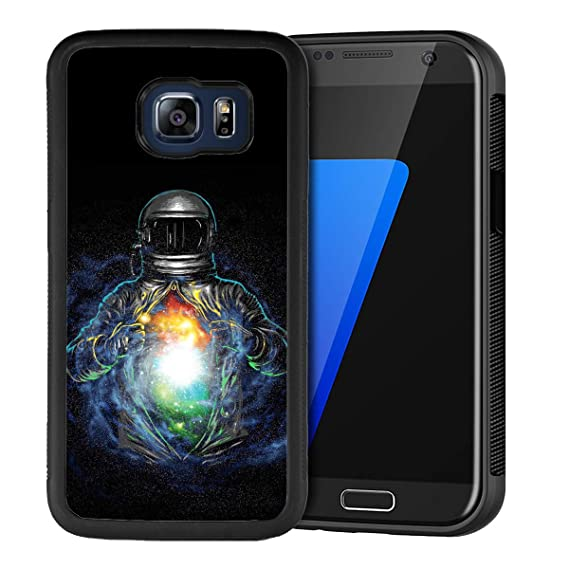 390ea1a4b5 Design Case for Samsung Galaxy S6 Edge,Merciey Black PC and TPU Cool  Astronaut Personalized
