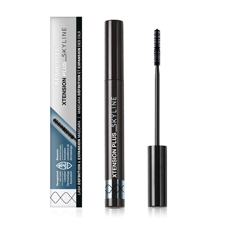 Marcelle Xtension Plus Skyline Mascara, Black, Hypoallergenic and Fragrance-Free, 0.23 fl oz