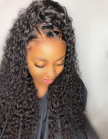 Persephone Curly Full Lace Wig Human Hair Pre Plucked Full Lace Human Hair Wigs With Baby Hair