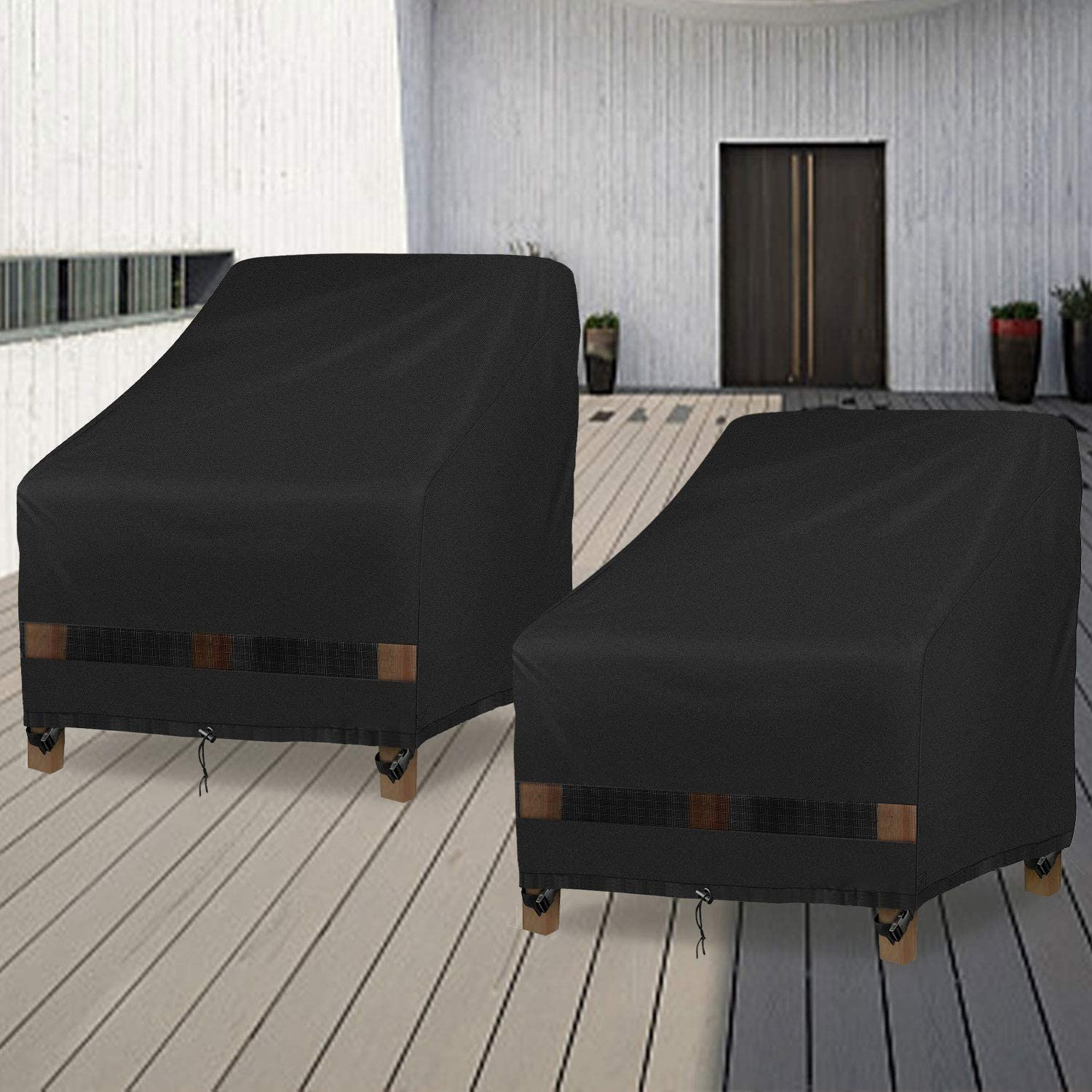 GARDRIT Patio Chair Covers, 2PCS Heavy Duty Outdoor Chair Covers, 100% Waterproof Chair Covers for Patio Furniture Fits up to 35
