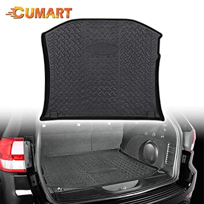 CUMART Rear Cargo Trunk Liner Floor Mat Waterproof Protector Compatible with Jeep Grand Cherokee 2011 2012 2013 2014 2015 2016 2020 2020 2020 2020: Automotive