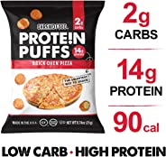 Shrewd Food Low Carb Keto Protein Puffs Brickoven Pizza 8 Pack | 112g Protein (14g per Serving), 2g Carbs | High Protein, Gl