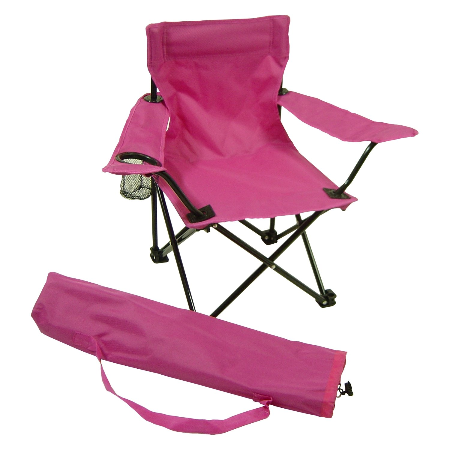 Beach Baby Kids Folding Camp Chair with Matching Tote Bag, pink