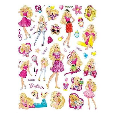 [Newest Version] Home Decorative 3D Effect Cute Barbie Girls Mural Removable Wall Sticker Cartoon Kids Nursery Wall Art Decal Wallpaper Black Barbie: Home & Kitchen [5Bkhe2004775]