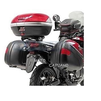 Pares Maletas Laterales GIVI E41 NN Nera Keyless con tapa negro groffato: Amazon.es: Coche y moto