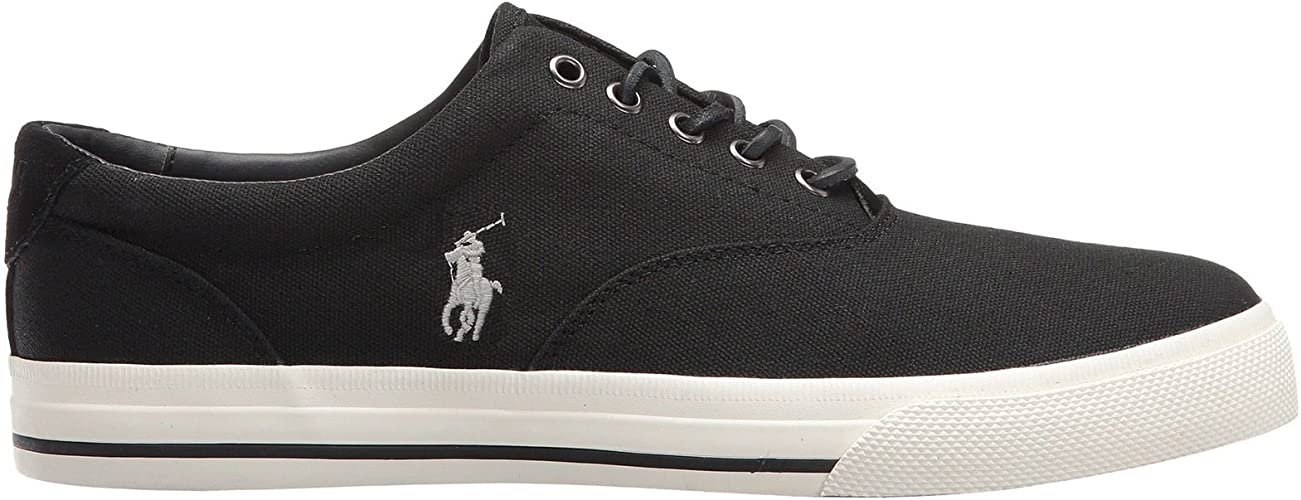 Ralph Lauren Mens Vaughn Canvas Trainers: Amazon.es: Zapatos ...
