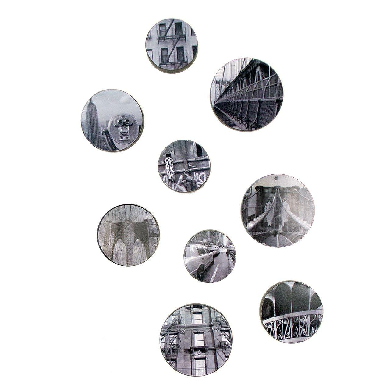 Fetco Home Decor Bubbles NY City Frame