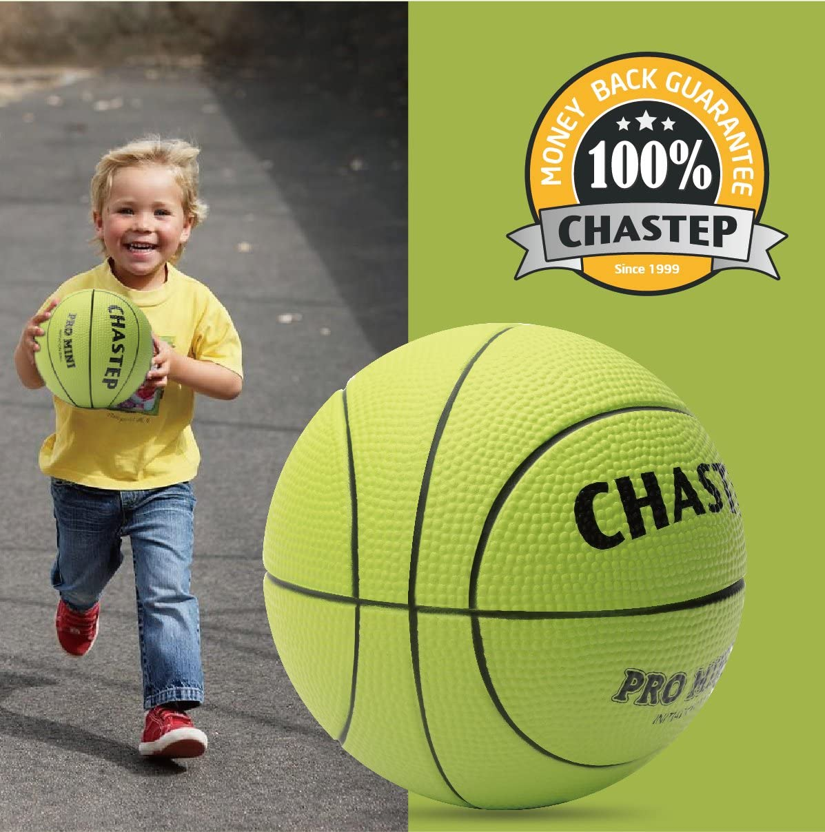Vigoureux Chastep children Mini Basketball 6 inch Foam Ball Soft and Bouncy Indoor//Outdoor Toys and Games Non-Toxic Safe to Play Gift for kids