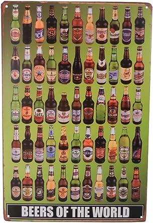 Tin Sign bottle cap beer Bar Pub Home Vintage Retro Poster Cafe ART