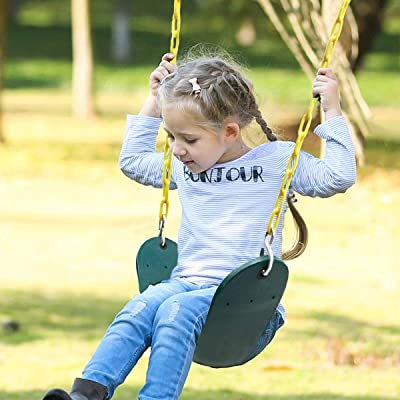 Tree Swing Anti-Rust Chains Plastic Coated with Snap Hooks Heavy Duty Playground Swing Set Accessories and Replacement  Many Colors Backyard belt swings Swing Seat Treehouse accessories