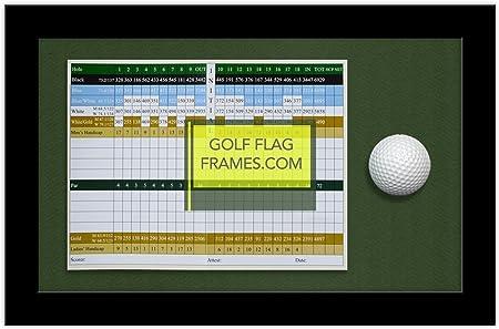8 x 13 marco de puntuación de Golf y pelota; Negro de madera para ...