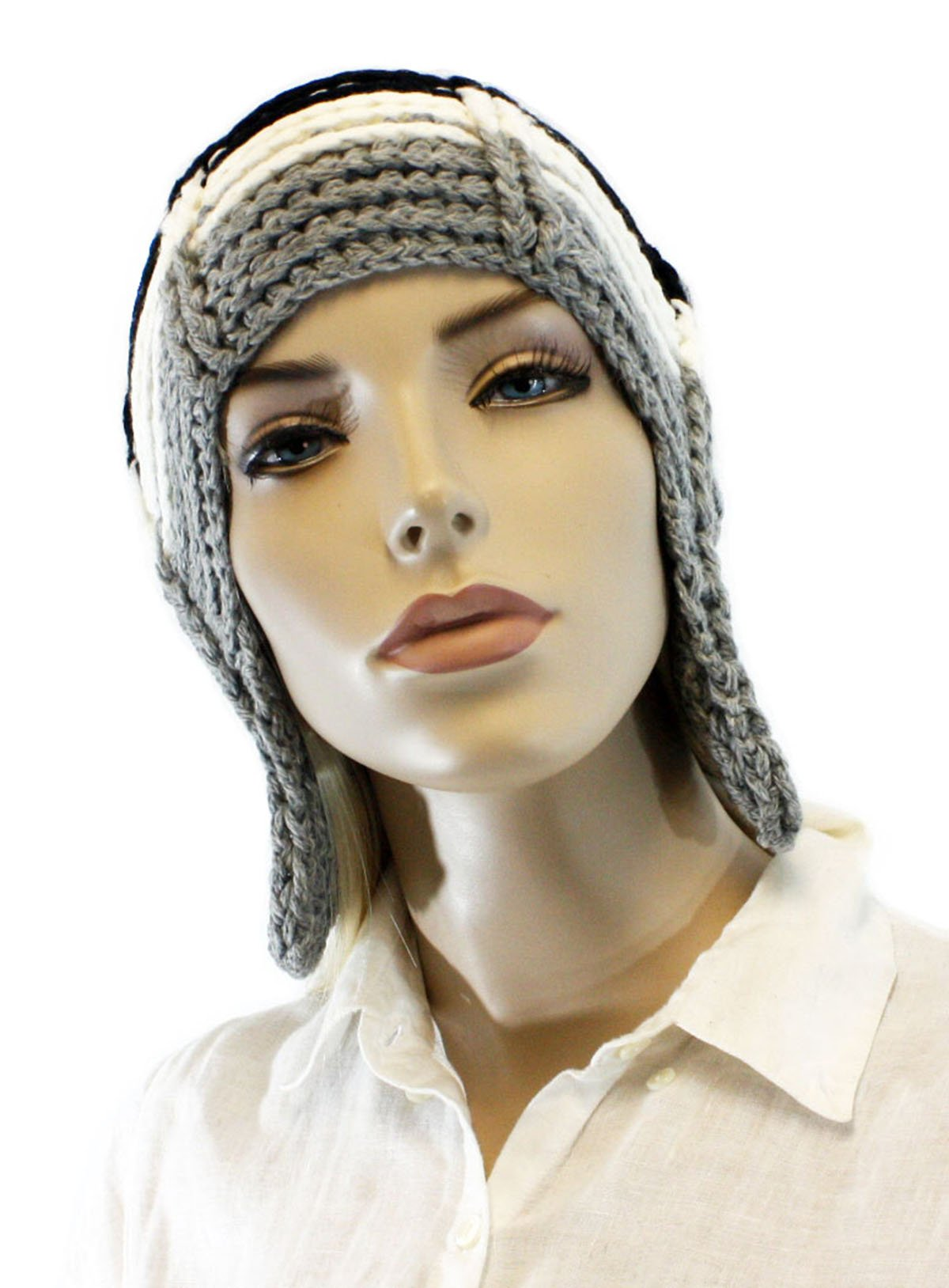 Fashion Dimensions Wild Grey Trapper Hat with Top Pom