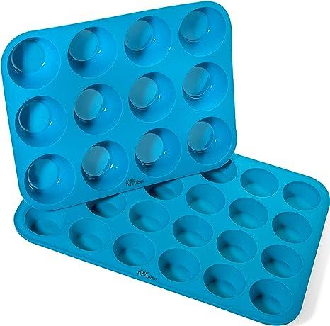 Amazon.com: Juego de moldes de silicona para magdalenas y ...