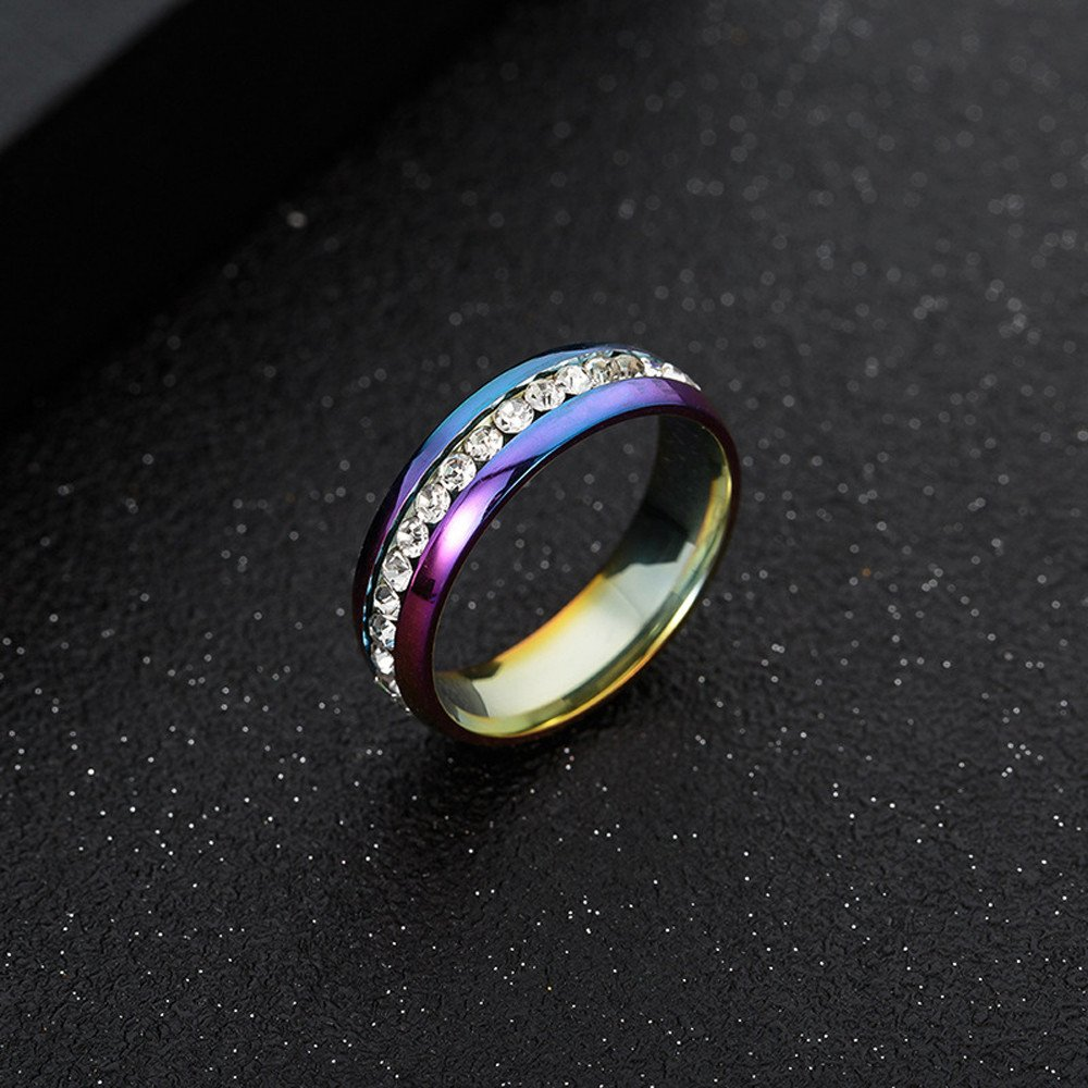 Vintage Unisex Rings for Women Men Titanium Stainless Steel Punk Totem Fashion Couple Round Ring Jewelry ODGear by ODGear_Rings (Image #2)