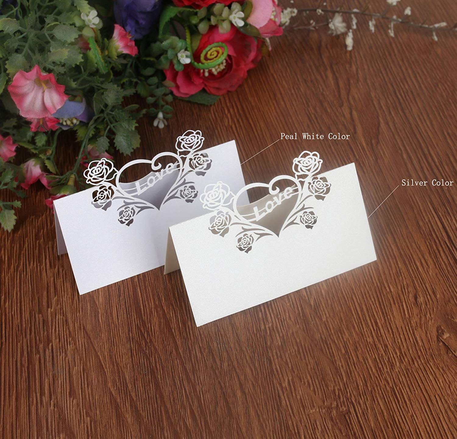 Wedding Table Place Cards Party Lace Cards Table Name Tent Place Cards Escort Name Card Laser