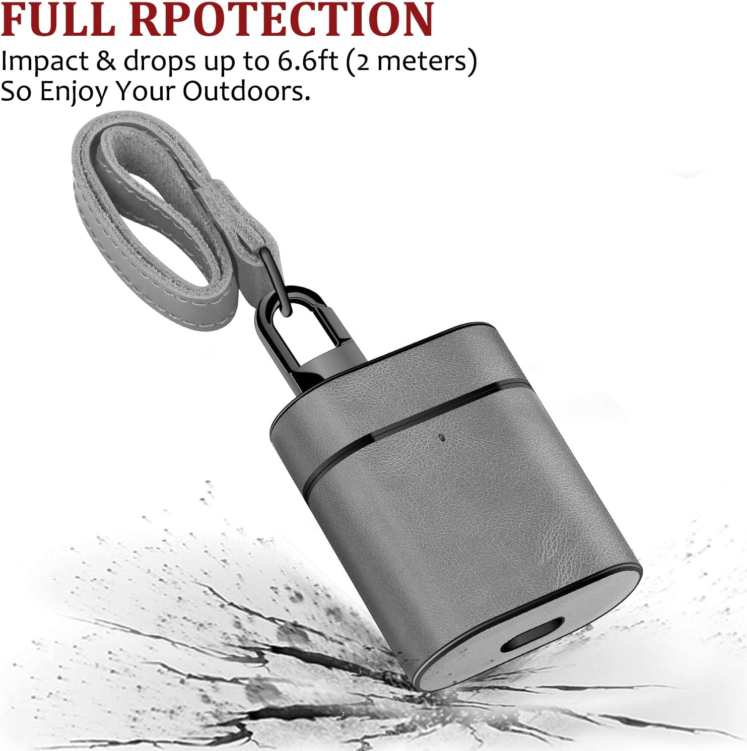 XGUO AirPods Case Genuine Leather Shockproof Skin Cover Case Portable Protective Cover for Apple AirPods 1 /& AirPods 2 Charging Case Gary