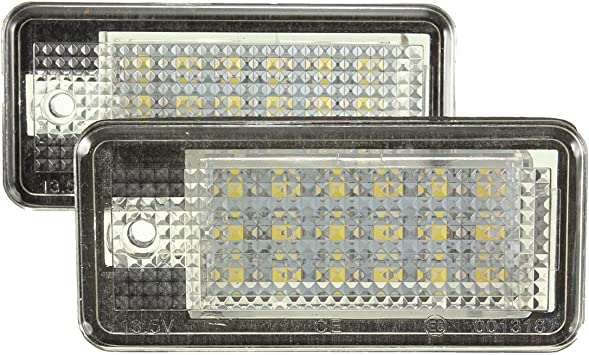 2x 18 LED License Number Plate Light Lamp Canbus Audi A3 A4 B6 B7 A6 C6 S6 A8 Q7