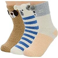 Winter Womens Warm House Slipper Socks Super Soft Microfiber Fuzzy Home Socks