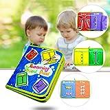 Samber Apprentissage Lacets Zip Button Boucle Snap Tie 6 Pièces Accessoire Apprentissage Multicolore Jouet Éducatif Learning Board Livre Style B