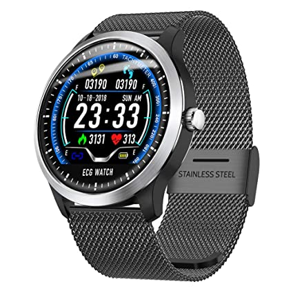 PQFYDS Bluetooth Smart Watch, N58 IP67 Waterproof Smartwatch, Fitness Tracker with Heart Rate Monitor ECG+PPG Measure for Samsung Android iOS