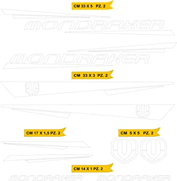 Kit Pegatinas Stickers Bicicleta MONDRAKER - Kit 6-10 Piezas- Bike Cycle Cod. 0886 (010 Bianco): Amazon.es: Deportes y aire libre