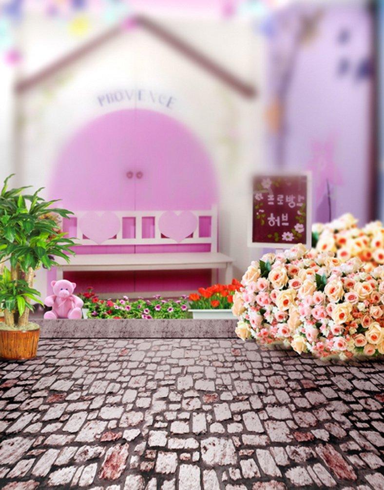ピンクハウス花写真の背景幕写真小道具Studio背景5 x 7ft   B01HMH3YO2
