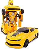 SuperPower Remote Control Car Transformers Bumblebee Classic Disguise Action Figure Hero Robot Toy with One Button Transformation