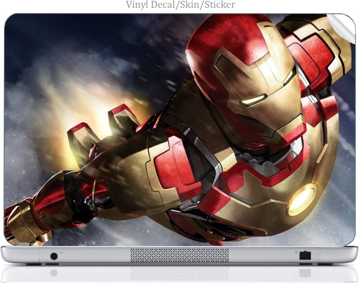 "Laptop VINYL DECAL Sticker Skin Print Comic Book Hero fits 15.6"" HP Pavilion (15-d038dx)"
