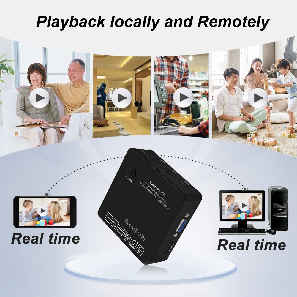 HOSAFE NVR 8 Channel Network Video Recorder, Support Recording to External HDD and ESATA HDD (Not included), Support ONVIF Compatible H.264 IP Cameras by HOSAFE.COM (Image #6)