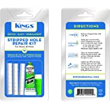 Stripped Screw Hole Repair Kits: Fix Holes in Doors, Door Jambs, Cabinets - Strong, Permanent, Quick and Easy to Use Kit - Repair Your Door Jamb, Cabinet and More (3/8)