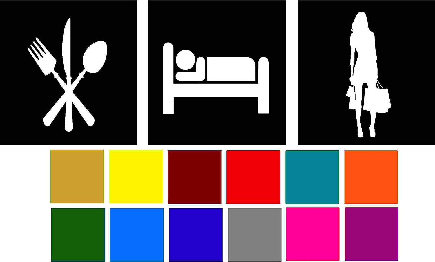 Choose Color V and T Gifts Eat Sleep Shop Decal