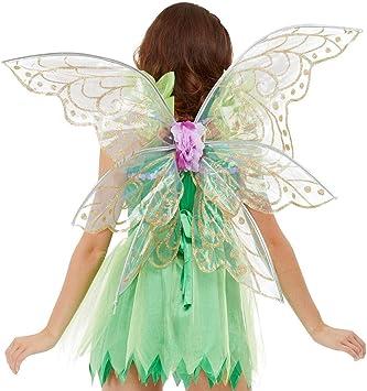 Amakando Elegante alas de Elfo para Mujer / Transparente-Dorado ...