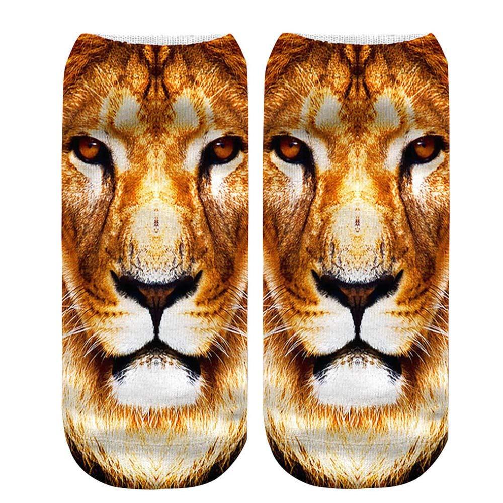Tigre Panda G/éant Animal Casual 3D Mignon Imprim/é Moyenne Chaussettes de Sport Mujer Unisexe sport fil decosse dim fantaisie invisibles coton courtes coeur basses hautes rayures