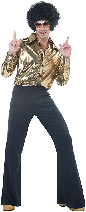 70s Costumes: Disco Costumes, Hippie Outfits Mens Disco King 1970s Halloween Costume Gold $49.99 AT vintagedancer.com