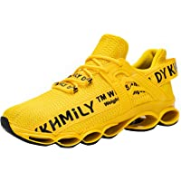 DYKHMATE Zapatillas de Seguridad Hombres Mujer Punta de Acero Calzado de Trabajo TPU Ligero Transpirable Zapatos de…