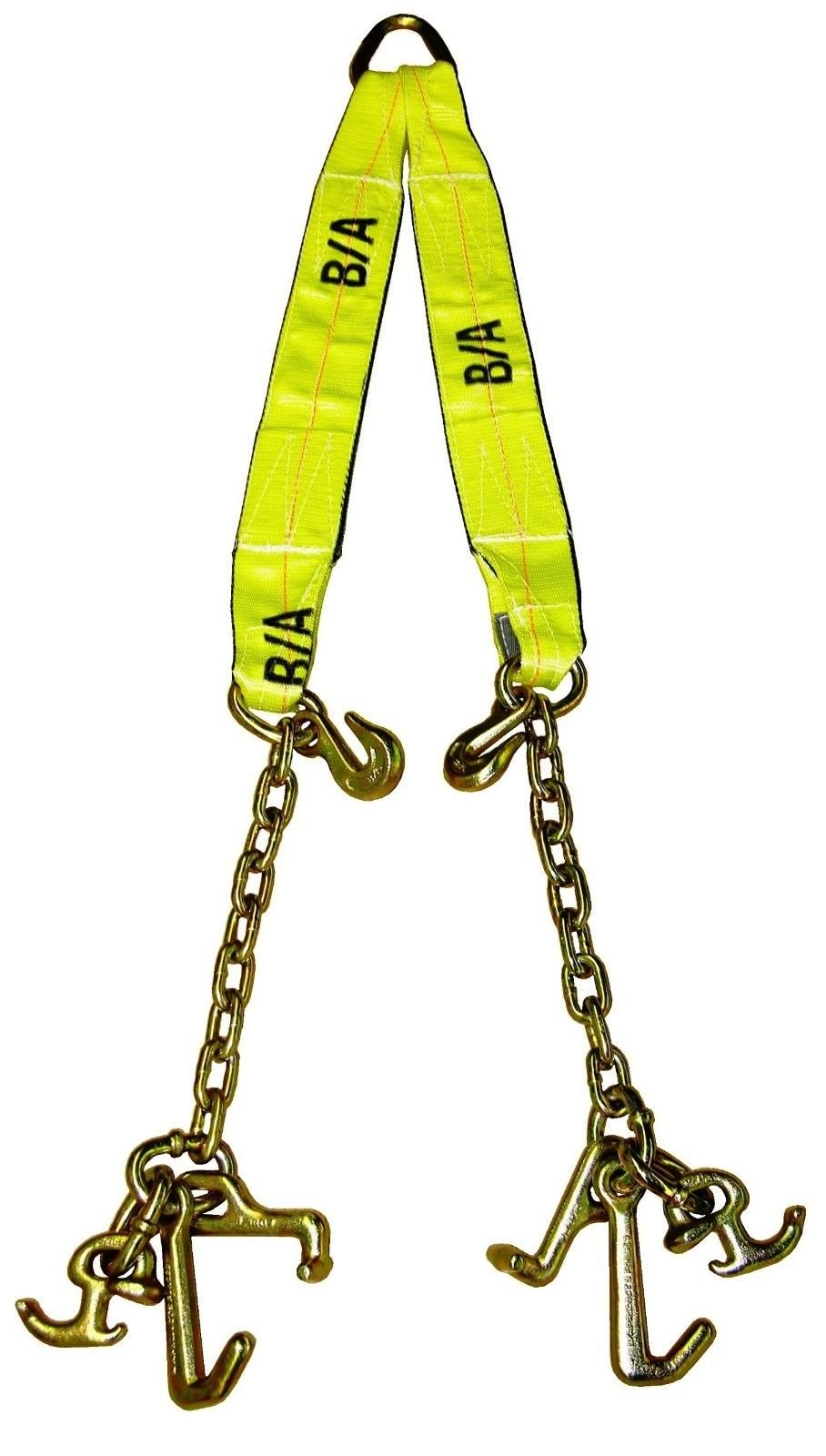 Ships in 1 -2 Business Days! B/A Products - N711-AV-WP - Adjustable Polyester V Strap / V Bridle, Yellow for Rollback by BA Products