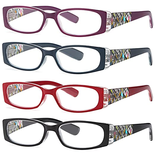 9e27f278cf76 Amazon.com: ALTEC VISION Women's Reading Glasses - 4 Pairs Ladies Fashion  Print Readers 1.00: Clothing