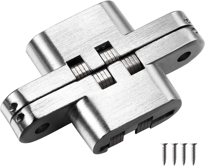 Bisagras invisibles cruzadas ocultas invisibles de puerta plegable invisible oculta cruz bisagras para muebles Hardware puerta de madera (68,8 mm)
