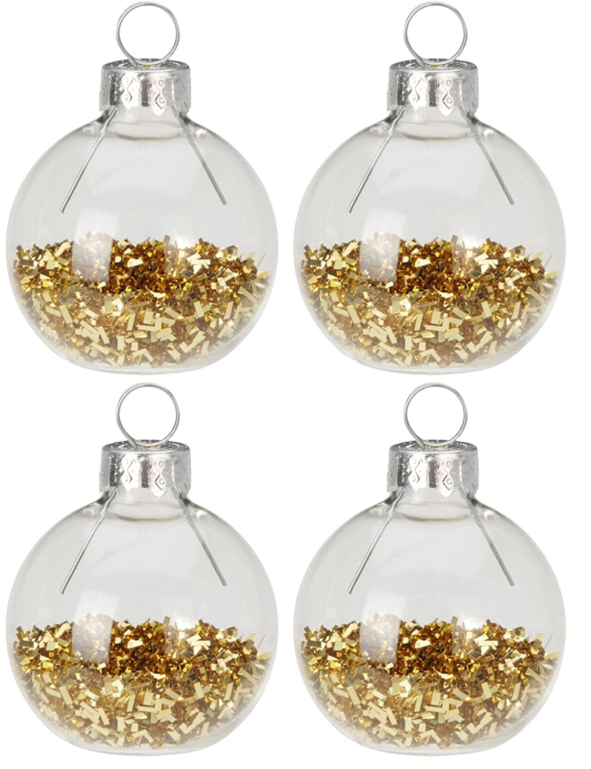 19.5 x 12.6 x 4.3 cm Talking Tables Party Porcelain Gold Glass Bauble Table Place Card Holders-Pack of 8