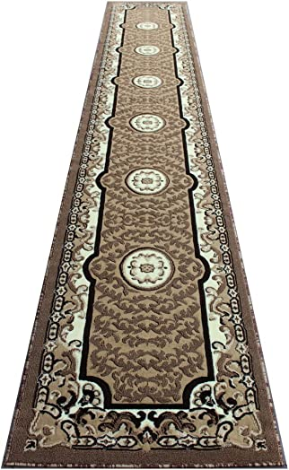 Traditional Area Rug Runner Beige 32 Inch X 15 Feet 10 Inch