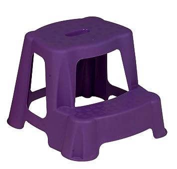 Purple Kids Step Stool Bathroom Plastic Potty Training Double ...