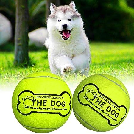 Pelota de tenis para mascotas de ECOOLBUY, juguete hinchable ...