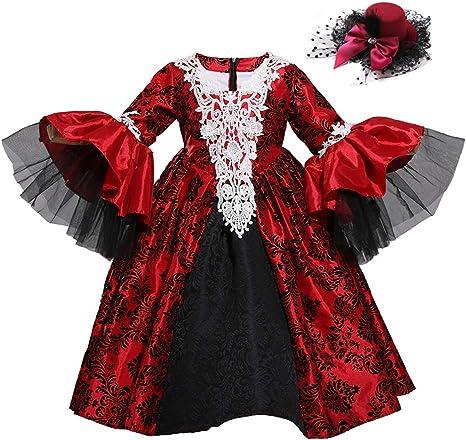 Jeff-chy Disfraz De Vampiro para Niña De Halloween Disfraz De ...