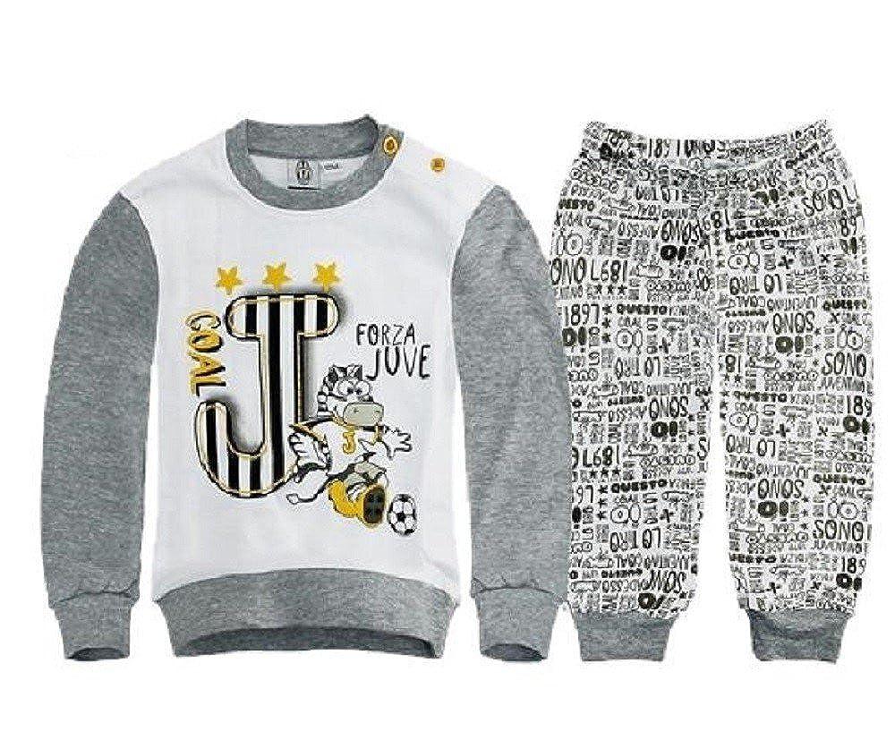 Pigiama Tutina Bimbo/Neonato Juventus Interlock Abbigliamento ufficiale Juventus Baby R22551