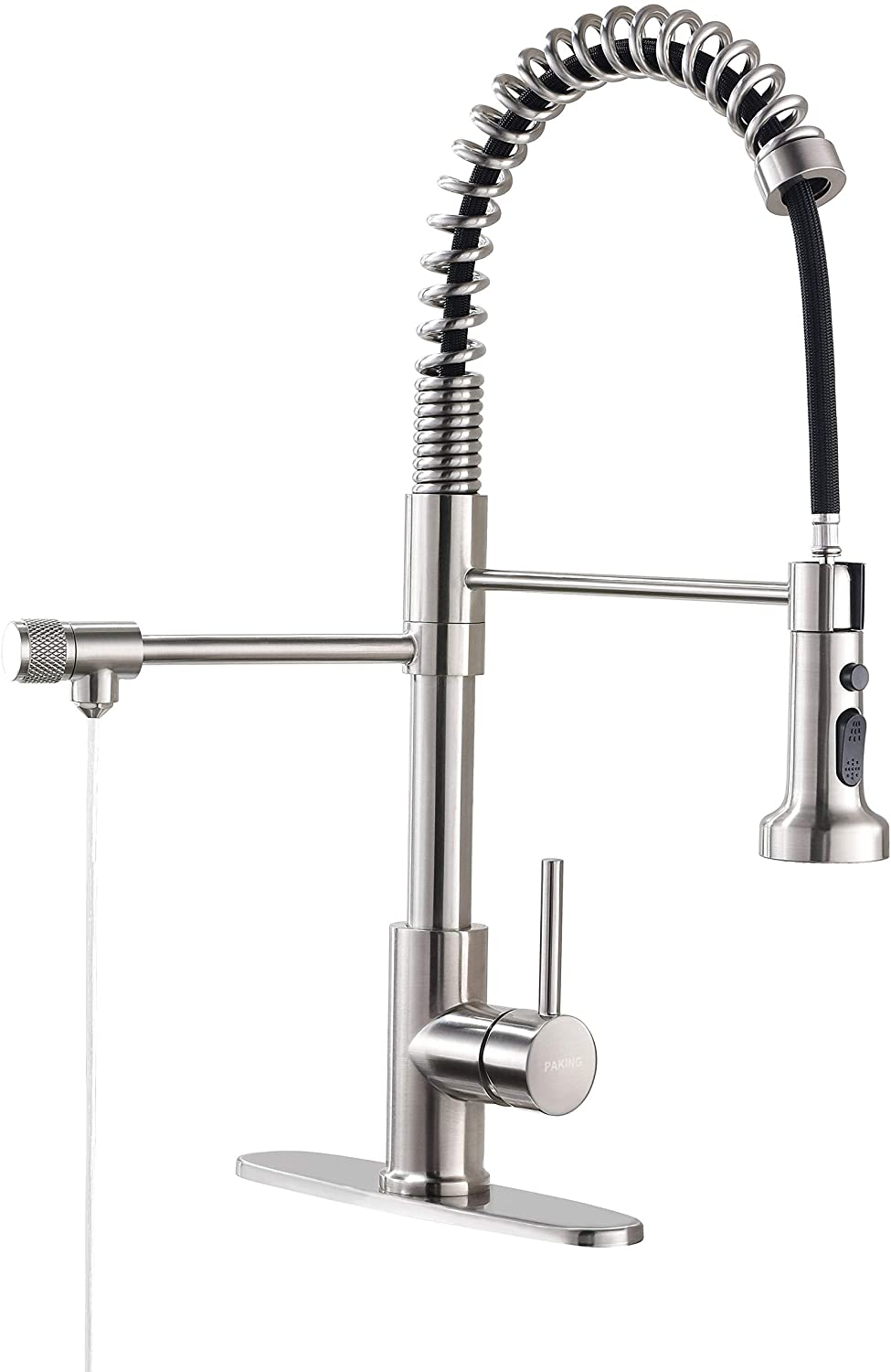 Drinking Water Faucet, PAKING PB1017 Kitchen Faucet, Kitchen Sink Faucet, Water Filtration Faucet, Sink Faucet, Pull-down Kitchen Faucets, Bar Water Filter Faucet, Brushed Nickel, Stainless Steel